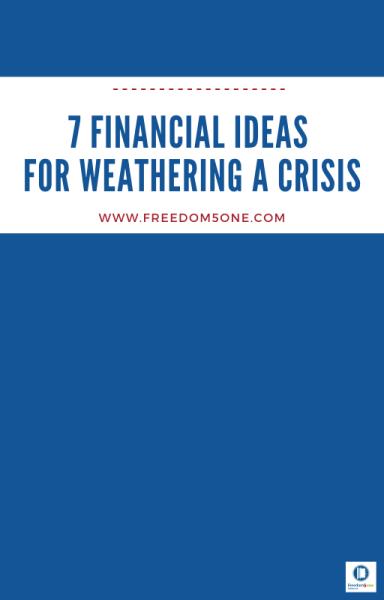 7 Financial ideas for a Crisis- ebook cover