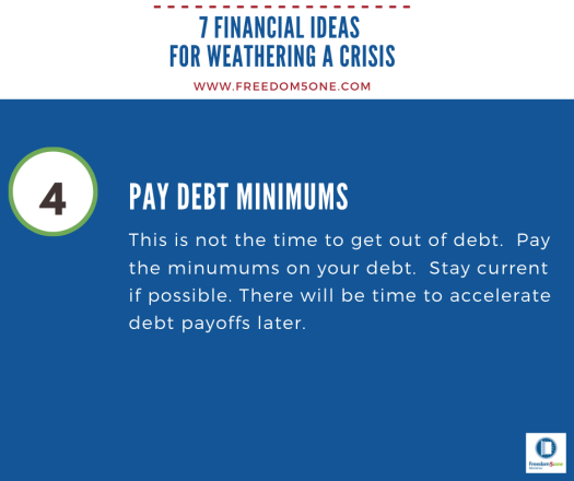 Step 4 Financial ideas for a Crisis