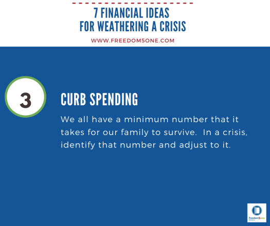 Step 3 Financial ideas for a Crisis
