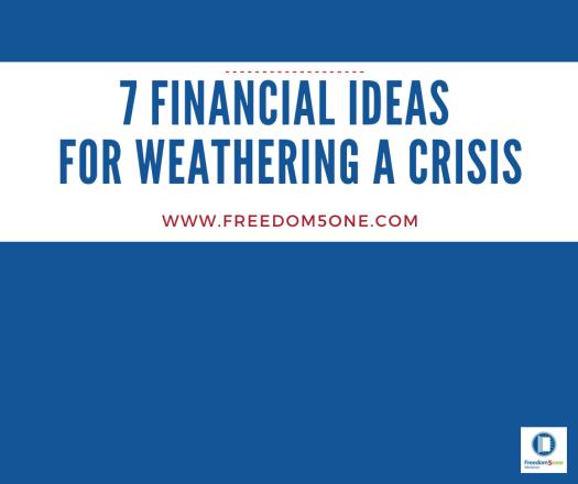 7 Financial ideas for a Crisis-cover fb